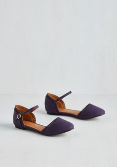 Cute Across Campus Flat in Purple. Whether you're headed to the quad or the classroom, you're flaunting these fab purple flats! #purple #modcloth