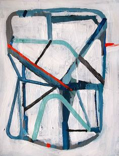 Original abstract modern geometric painting by Brian Elston. Geometric Painting, Geometric Art, Abstract Art, Abstract Paintings, Black And White Painting, Blue Painting, Great Works Of Art, Apt Ideas, Abstract Styles