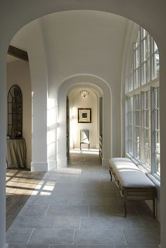 Slate flooring transition into wood decorating for Transition windows for homes