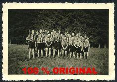 orig. WK2 FOTO - HJ PIMPFE MIT MARSCH GEPÄCK - Uniform - Jungvolk - Jugend