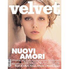 Velvet September 2011 Cover (Velvet) Kristy Kaurova ❤ liked on Polyvore featuring pictures, models, backgrounds, girls and revistas