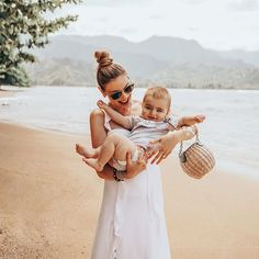 Image may contain: 2 people, baby and outdoor Girl Inspiration, Travel Inspiration, Beach Vacation Outfits, Summer Trends, Summer Ideas, Travel Advise, Travel Plan, Travel Tips, Travel Destinations