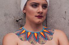 Handmade Necklaces, Handmade Jewelry, Unique Jewelry, Choker, Peacock Art, Hand Painted Furniture, Beading Tutorials, Needle And Thread, Hama Beads