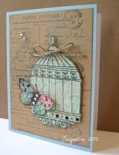 Jacqueline's Craft Nest: Stampendous..like the colors.