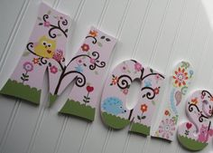 Image detail for -m2m kidsline dena happi tree owls, hand painted wooden wall letters ...