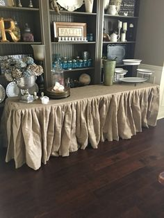 Ruffled Burlap Tablecloth With KMart Chairs From French Country Cottage |  White To Gray.... Taupe..... Greige | Pinterest | Burlap, Burlap Table  Cloths And ...