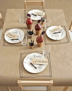 Kids table they can write on