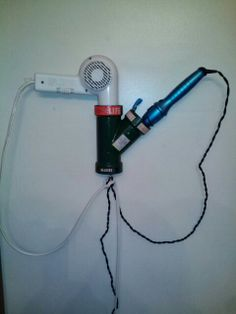 pvc pipe hair dryer holder instructions