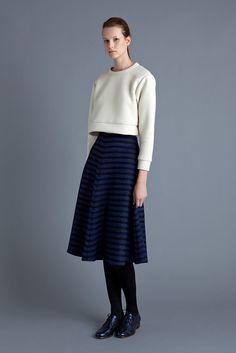 Samuji - Blu Skirt AW15 Lace Up Shoes, Daily Fashion, My Style, Daily Style, Womens Fashion, Ladies Fashion, Ready To Wear, Normcore, Feminine