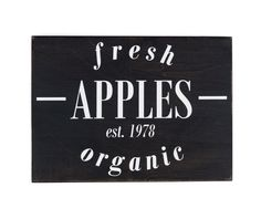 Fresh Apples Wooden