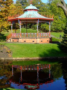 The bandstand, Sefton Park, Liverpool, England Liverpool Town, Liverpool History, Liverpool England, Alcoves, City North, Modern Times, Historical Pictures, Old Postcards, My Images