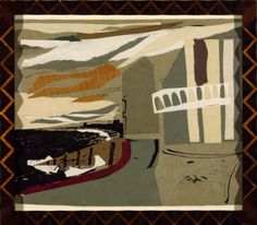 John Piper, 'Littlestone-on-Sea' 1936 Coloured paper collage and indian ink on paper 360 x 475 John Piper Artist, Collages, Hans Arp, Simple Collage, Tate Gallery, How To Make Drawing, Abstract Words, Famous Artists, British Artists