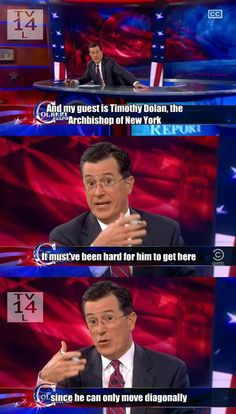 Colbert, king of dad jokes…