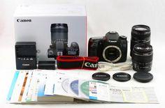 #14538 Canon EOS 70D DOUBLE LENS SET excellent Japan Import Free/Ship to U.S.A.