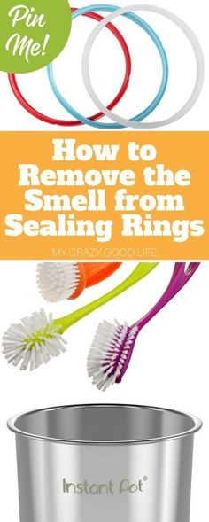 It can be tough trying to figure out how to remove odor from Instant Pot sealing rings. Here are some tips on how to remove the smell from sealing rings. #instantpot #pressurecooker #IPcooking #pressurecooking