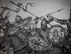 Tap to see the meme Byzantine Army, Medieval Knight, Roman Empire, Military History, Middle Ages, Ancient History, Soldiers, Drawings, Medieval Times