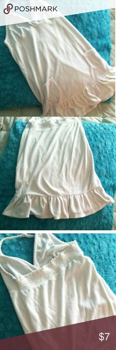 Justice beach cover up Justice White terry cloth halter style cover up size 14 Justice Dresses