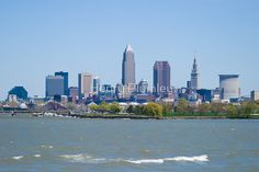 Cleveland skyline in spring, yes, we have nice weather at least 4 days a year!