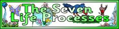 Free printable 'The Seven Life Processes' banner.