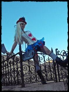 Asylum Alice in wonderland Custom Costume. $195.00, via Etsy.