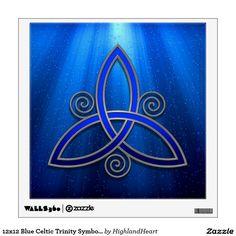 12x12 Blue Celtic Trinity Symbol Wall Decal