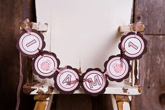 Pink Owl First Birthday Party Decoration I by getthepartystarted, $10.00