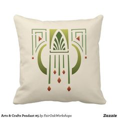 Arts And Crafts Decorative & Throw Pillows Art And Craft Design, Art Deco Design, Design Design, Graphic Design, Interior Design, Art Nouveau, Arts And Crafts For Adults, Projects For Adults, Arts And Crafts Furniture