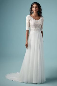 Maggie Sottero Wedding Dresses, Modest Wedding Gowns, Lace Weddings, Tomboy Wedding Dress, Mormon Wedding Dresses, Country Weddings, Vintage Weddings, Wedding Vintage, Gown Wedding