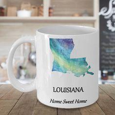Louisiana State Coffee Mug  Home Sweet Home  Choose Your