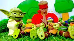 ЧЕРЕПАШКИ-НИНДЗЯ стали ЗОМБИ! Видео с игрушками для детей: Рома против Б...