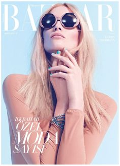 Pastel Beauty – Katrin Thormann delivers spring beauty with the March cover shoot of Harper's Bazaar Turkey, shot by Koray Birand. Garbed in pastel looks from… Fashion Magazine Cover, Fashion Cover, Love Fashion, Womens Fashion, Magazine Covers, Fashion Models, Magazine Ideas, Magazine Mode, Mode Editorials