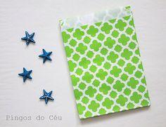 24 pcs  Moroccon Style  Green Favor Paper Bags  by pingosdoceu
