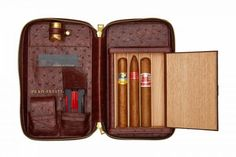 This is Puro Prestige's magnum opus. An artisan travel case for the cigar connoisseur, it is intelligently practical and elegantly stylish. Cigar Travel Case, Cigars And Whiskey, Top Cigars, Cuban Cigars, Leather Cigar Case, Cigar Club, Cigar Bar, Cigar Holder, Cigar Smoking