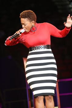 Chrisette Michele Performs At Women's Empowerment [PHOTOS] | Foxy ... Afro Hairstyles, Tapered Hairstyles, Tapered Afro, Chrisette Michele, Bald Hair, How To Curl Short Hair, Famous Girls, Natural Hair Inspiration, Short Styles