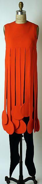 Ensemble: Cardin; 1971; wool,synthetics, leather