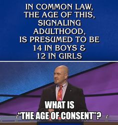 """When things got super creepy on Jeopardy when a contestant's """"age of consent"""" knowledge was so wrong:   These Are The 16 Best, Craziest, And Most Hilarious Game Show Moments"""
