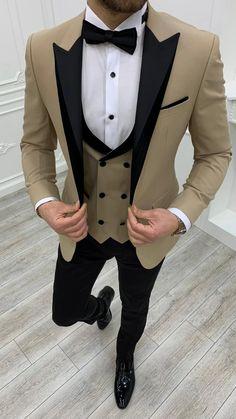 Suit Vest, Vest Jacket, Wedding Suit Collection, Costumes Bleus, Gilet Costume, Cream Suit, Slim Fit Tuxedo, Suits For Sale, Stylish Mens Outfits
