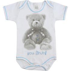 Body Bebê Menino Ursinho Sou Lindo Branco - Patimini :: 764 Kids | Roupa bebê e infantil