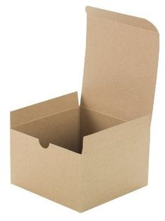 Brown Cardboard Kraft Tuck Top Gift Boxes with Lids 20 Pack 3x3x3