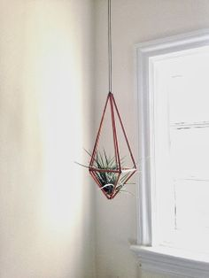 Fire and Flowers: Copper Tubing Geometric Hanging DIY