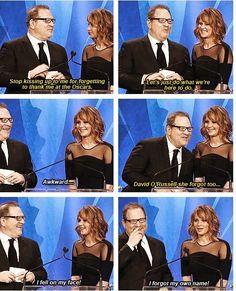 Jennifer Lawrence on falling at the Oscars.
