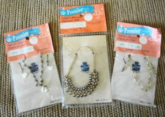 3 Packages Vintage Doll Jewelry by Premier for Fashion Glamour Dolls