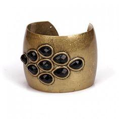 Vintage Black Gem Cuff Bracelet