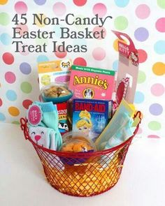 Top 50 easter basket gift ideast some really great suggestions on 45 non candy easter treats for lil kidsi am so excited about easter this year with the kids easter is one of my favorite holidays to celebrate and we negle Choice Image