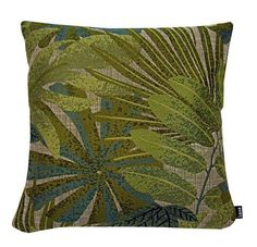 Chic Tropics Green Pillow