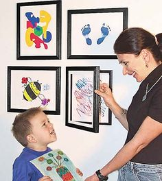 Storage Frames : Great for kids artwork