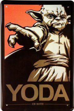 "Deko: ""Yoda"" Comic Motiv Blechschild Replik 9,90€"
