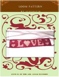 Mirrix Loom Pattern  Love Is In The Air Digital File by JJJCrafts