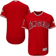 Angels Blank Red 2017 Spring Training Flexbase Jersey