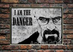 Walter White Portrait/I Am The Danger/Breaking Bad Poster/Book Page Print/Dictionary Page Print/Walter White Quote Poster/Vintage/Wall Art/ Book Page Art, Book Pages, Poster Vintage, Vintage Wall Art, As You Like, Just In Case, Breaking Bad Poster, White Quote, Greys Anatomy Memes